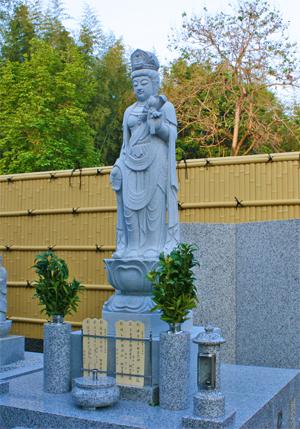 法然寺観音立像納骨墓